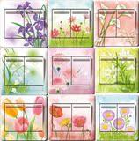 开关贴韩国墙壁欧式插座创意装饰开关套墙贴植物花卉套树脂开关贴