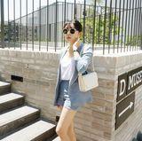 candyglow2016韩国代购春夏季新款时尚OL套装外套短裤潮女