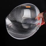 德国Nachtmann 进口水晶玻璃透明果盘 欧式现代创意叶纹 汤盘餐盘
