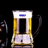 乐美雅创意德国小麦啤酒杯带把超大扎啤酒杯夏季家用耐热玻璃杯