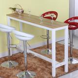 包邮宜家现代简约家用吧台桌烤漆酒吧吧台客厅餐桌靠墙实木吧台桌