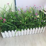 仿真植物盆栽 室内假绿植栅栏装饰品花假植物盆栽摆件水草玫瑰花