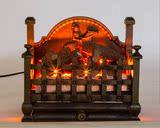壁炉,电取暖器玄关客厅装饰品欧式仿真 真火铸铁 燃木火炉,壁炉芯