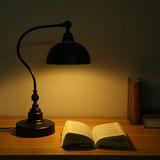 美式复古典欧式黑色卧室床头学习工作书房书桌灯护眼创意调光台灯
