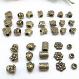 DIY手工水晶饰品配件材料 直通隔珠管子 古铜合金 配饰散珠子批发