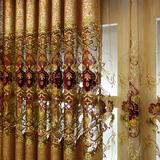 高档奢华大气客厅欧式窗帘豪华别墅卧室成品遮光镂空绣花布料定制