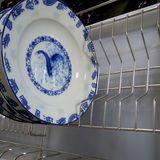 不锈钢橱柜拉篮 单层碗篮平篮 厨房抽屉碗碟收纳 放果蔬带接水盘