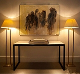 玄关桌简约现代实木门厅柜 长条案过道装饰隔断柜台餐边供桌吧台