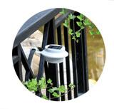光控圆形太阳能庭院灯家用led阳台景观灯户外草坪篱笆灯防水