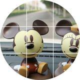 汽车摆件摇头可爱米奇米妮公仔卡通创意车载高档车内装饰品摆件