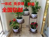 铁艺花架 阳台植物花盆架 落地多盆折叠花架 绿萝架 庭院花园摆设