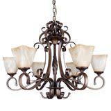直销家装简欧式古铜铁艺主客厅6头吊灯具美式简约餐厅新中式经典