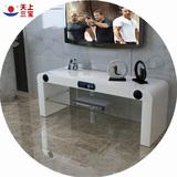 玻璃电视机柜子简约小户型客厅卧室烤漆白色液晶现代家具组装地柜