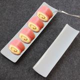 创意纯白陶瓷酒店餐具长条盘子特色日式寿司盘子碟子西餐餐具批发