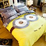 家纺床上用品卡通全棉四件套纯棉被套三件套1.5m1.8m双人床单式