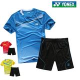代购正品YONEX羽毛球服套装男夏圆领短袖T恤短裤运动服网球衣团购