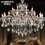 奢华欧式蜡烛水晶吊灯复式客厅灯双层大气大厅水晶灯灯具HD076