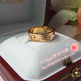 香港代购正品Cartier卡地亚LOVE戒指 B4084800 玫瑰金宽版无钻