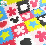 菊屋地垫30x30x1cm(单片)儿童卡通小拼图环保宝宝爬行泡沫垫子