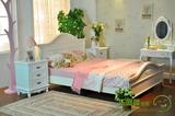 欧式床实木包邮烤漆 简约宜家法式描银象牙白色双人婚床韩式1.8米