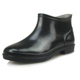 厨师鞋2016春秋季防滑工作防水低帮纯色青年雨鞋低筒男士中筒雨靴