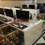 网吧异型电脑桌休闲现代网鱼桌网咖三角桌子定制抽拉沙发桌椅组合