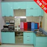 上海烤漆板不锈钢台面防潮板柜体整体橱柜订做