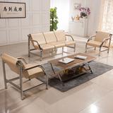 办公家具沙发茶几会客简约现代办公室沙发茶几组合三人位等候排椅