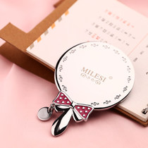 Millers carry small mirror hand holding makeup mirror portable Korean cute princess mini mirror creative handle