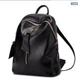 欧美大牌专柜代购新款牛皮真皮双肩包女包休闲旅行背包学院风书包