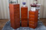 简约田园夹缝收纳柜木中式储物柜斗柜实木多层抽屉式床头柜边角柜