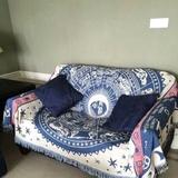 沙发巾沙发罩沙发套保护罩单双人线毯 全盖防滑布艺棉线针织特价