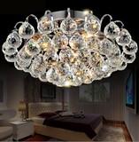欧式吸顶灯圆形客厅水晶灯欧式K9水晶灯卧室灯餐厅过道阳台玄关灯