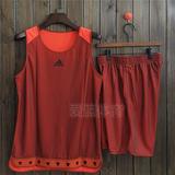 阿迪达斯篮球服套装男女 双面球衣比赛训练服定制印号印字印LOGO