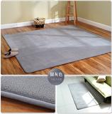 珊瑚绒地毯卧室满铺客厅床边房间飘窗防滑长方形地垫可定制灰色