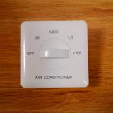 中央空调风机盘管开关温控器 墙壁三速档调速开关 盘管风机控制器