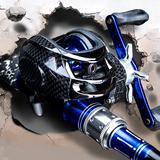 励洋碳素路亚竿套装水滴轮枪柄直柄纺车轮钓鱼竿海竿特价杆渔具