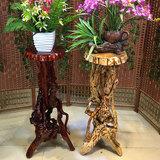杜鹃根雕花架根雕底座客厅摆件天然实木树根盆景花架底座根雕凳子