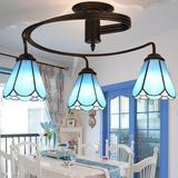 创意铁艺地中海吸顶灯 卧室餐厅客厅书房蒂凡尼艺术复古灯饰灯具