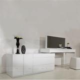 卧室家具白色烤漆梳妆台电视柜组合简约现小户型化妆台特价定制