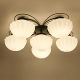 地中海个性创意吸顶灯现代简约过道阳台灯客厅主卧室灯温馨贝壳灯