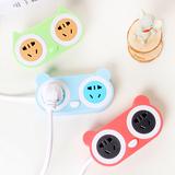 AKEID卡通插座可爱猫多功能USB插座无线家用电源插排插拖线接线板