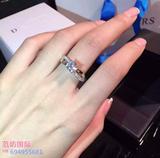 925纯银经典六爪钻戒 仿真戒指女士求婚结婚1 2 3克拉莫桑石18k金