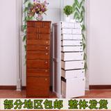 实木带锁斗柜高柜文件柜保密柜资料柜办公储物柜实木柜子客厅高柜