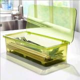 沥水筷子筒 带盖筷子架 创意筷子盒 餐具收纳盒 韩式筷笼 塑料 桶