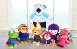 韩国正品pororo小企鹅公仔波鲁鲁系列卡通毛绒玩具儿童生日礼物