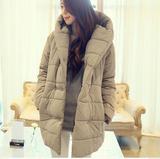 2014韩国东大门代购冬装新款韩版中长款显瘦加厚棉衣棉服女装新款