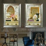 新品特价包邮 装饰画 客厅现代有框画 欧式古典花卉E10