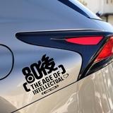 80后90后汽车身贴纸个性搞笑创意车贴侧门新手上路改划痕装饰用品