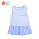 贝贝怡婴儿衣服夏季女宝宝休闲纯棉透气条纹拼接儿童上衣162S167